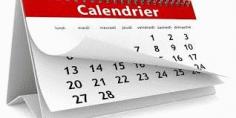 Notre calendrier
